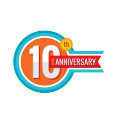 Creative emblem 10 th years anniversary five vector