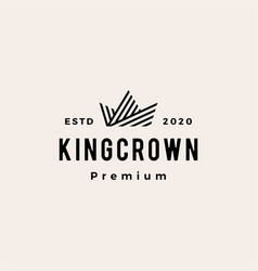 crown hipster vintage logo icon vector image