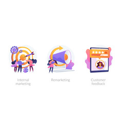 Customer journey concept metaphors vector