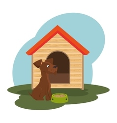 Cute dog isolated icon vector