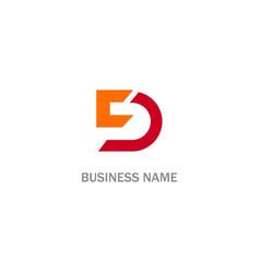 d initial logo vector image