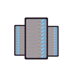 data center server technology storage vector image