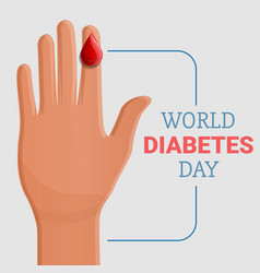 diabetes day concept background cartoon style vector image