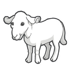 drawn goat vector image vector image