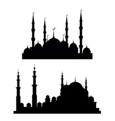 eid al adha lettering composition moslim holy vector image