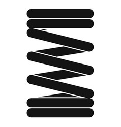 Elastic spring wire icon simple style vector