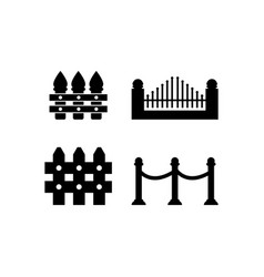 fence icon design template isolated vector image