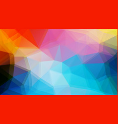 flat triangle background vector image