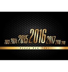 Golden New Year 2016 vector
