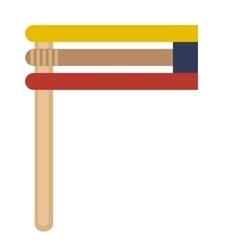 Grager ratchet icon logo element Flat style vector image