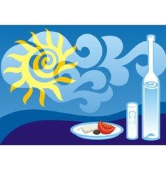 greek summer vector image