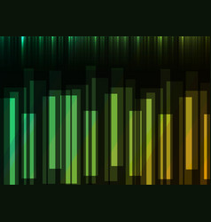 Green speed bar overlap in dark background vector