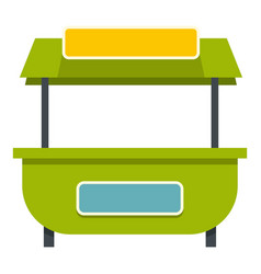 Green street kiosk icon isolated vector