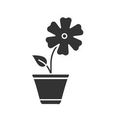 Hibiscus glyph icon vector