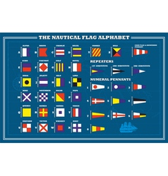 International maritime signal flags - sea alphabet vector
