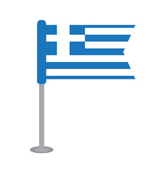 isolated flag of greece vector image