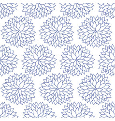 japanese chinese blue floral pattern vector image