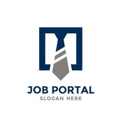 Job portal logo design template concept of vector