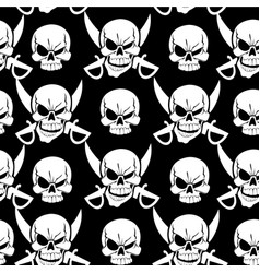 Jolly roger black seamless background vector