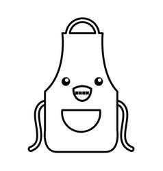 Kawaii apron cartoon vector