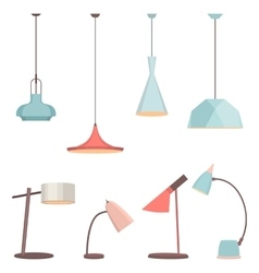 Lamps sign set for interior Electricity floor vector image