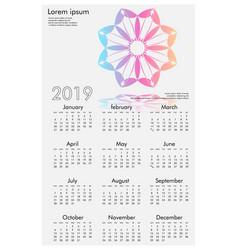 Master kalender 2019 white vector