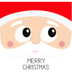 merry christmas santa claus square head face icon vector image