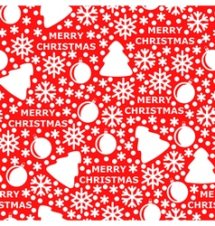 Merry pattern red vector
