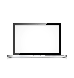 modern laptop isolated on white vector image