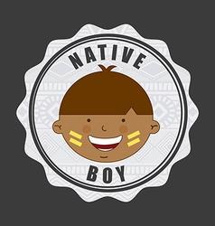 Native kid vector