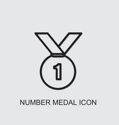 Number medal icon vector