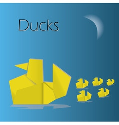 Origami ducks eps10 vector