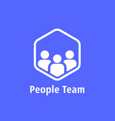 people team like together logo vector image