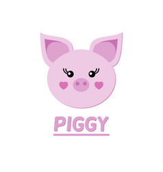 Picture of a piglet symbol of the year 2019 vector