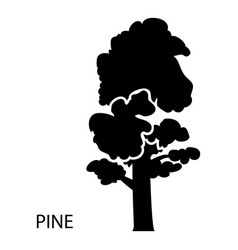 pine icon simple style vector image