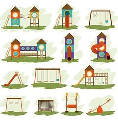 Playground design vector