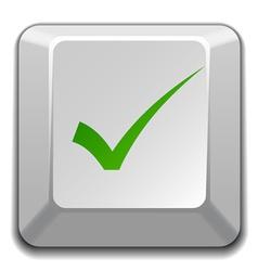 Positive checkmark key vector