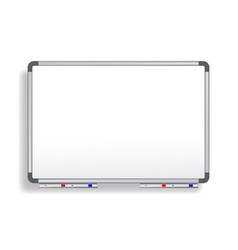 Realistic office whiteboard empty whiteboard vector