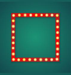 red light square frame background vector image