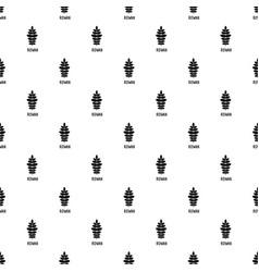 rowan leaf pattern seamless vector image