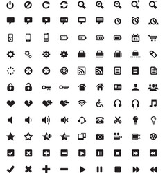 set universal icons 4 vector image