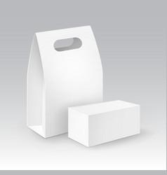 set white blank cardboard rectangle take vector image
