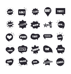 slang bubbles different words and phrases vector image