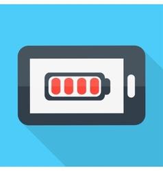 Smartphone Flat design Battery icon vector image