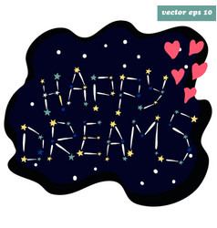 Stars happy dreams vector