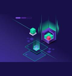 Storage hardware concept vector