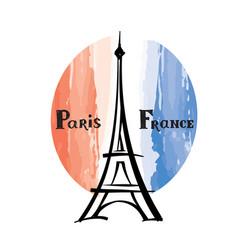 travel france sign paris famous building eiffel vector image