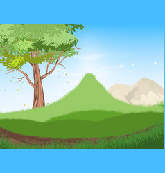 Tree and forest scene vector