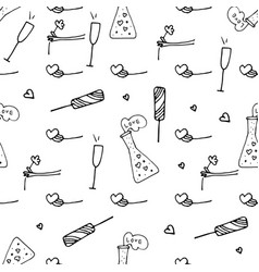 valentine patterns in doodle style vector image