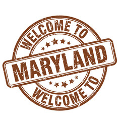Welcome to maryland vector